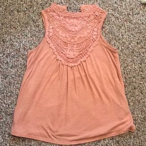 Really cute pink lace tank